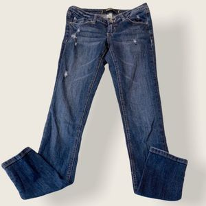 Garage Low Rise Distressed Super Skinny Jeans - 5